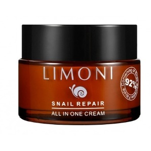 Крем для лица восстанавливающий Snail Repair All In One Cream от Limoni - Крем, 50 мл