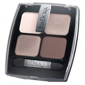 Тени для век четырехцветные Eye Shadow Quartet от IsaDora - №44 размытый телесный