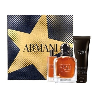 Emporio Armani Stronger With You Intensely от ARMANI - Набор: парф. вода, 50 мл + парф. вода, 15 мл + гель д/душа, 75 мл