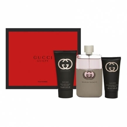 Gucci Guilty Pour Homme от GUCCI - Набор: т.вода, 90 мл + гель д/душа, 50 мл + лосьон п/бритья, 75 мл